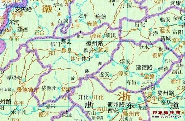 从秦至清的徽州区域地图(6)