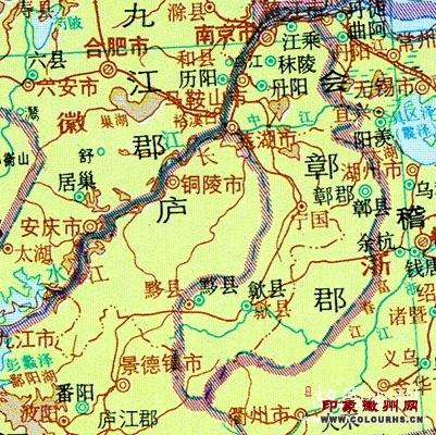 从秦至清的徽州区域地图