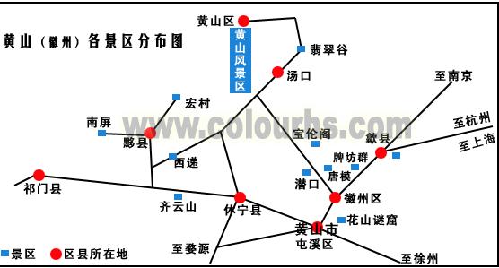 宏村旅游交通图
