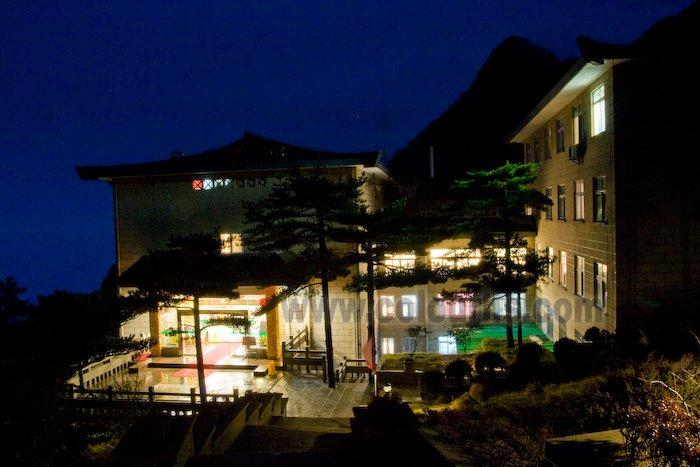 黄山白云宾馆夜景