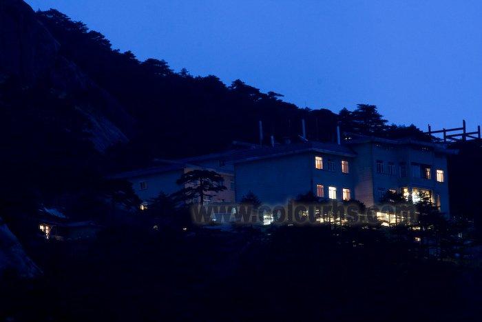 白云景区方向看黄山白云宾馆