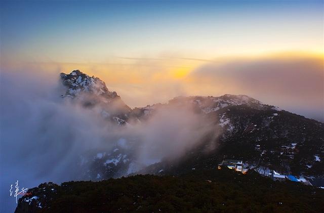 黄山光明顶观晚霞云海 摄影:徕卡视觉
