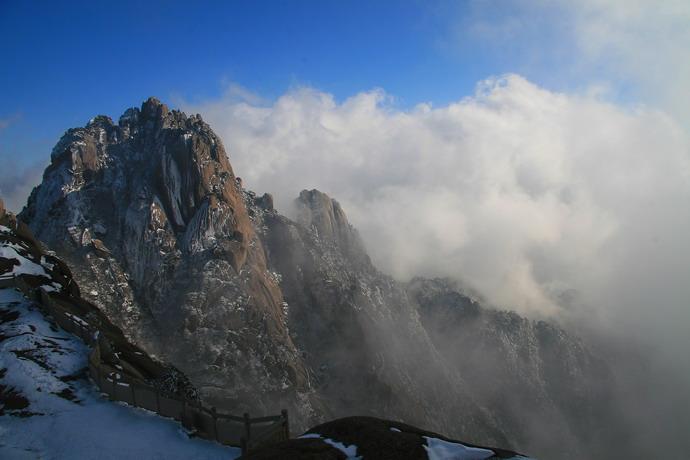 诗意黄山冬雪