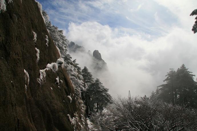 """""""黄山第五绝""""——冬雪"""