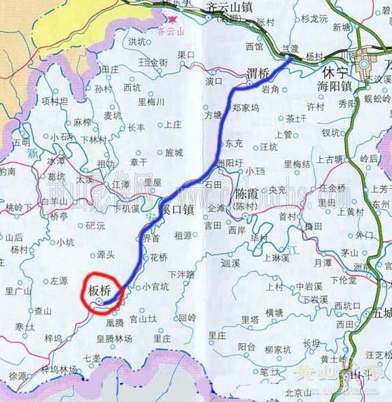 休宁板桥交通图