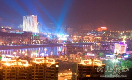 屯溪新安江夜景