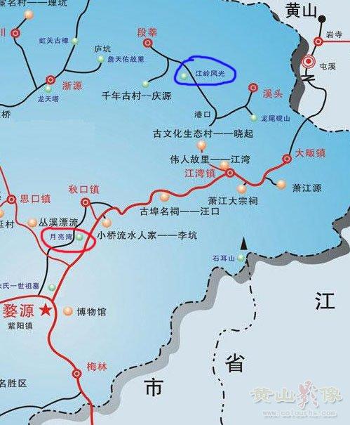 婺源月亮湾交通图