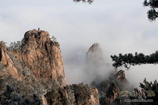"""黄山旅游摄影—黄山狮子峰上著名景点""""猴子观海"""".jpg"""