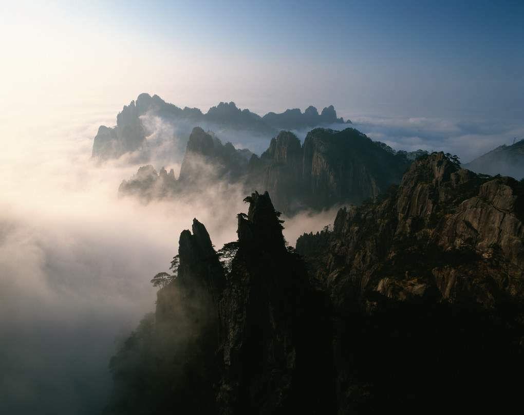 黄山旅游摄影—西海群峰晚霞.jpg