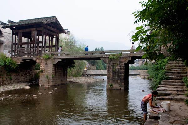 安徽呈坎村介绍 呈坎古镇旅游攻略-元朝修建造型优美的环秀桥.jpg