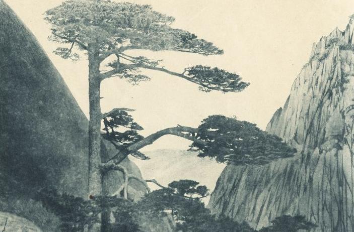 黄山迎客松介绍 黄山迎客松图片 民国3年(1912年)12月《中国名胜第一种——黄山》.jpg