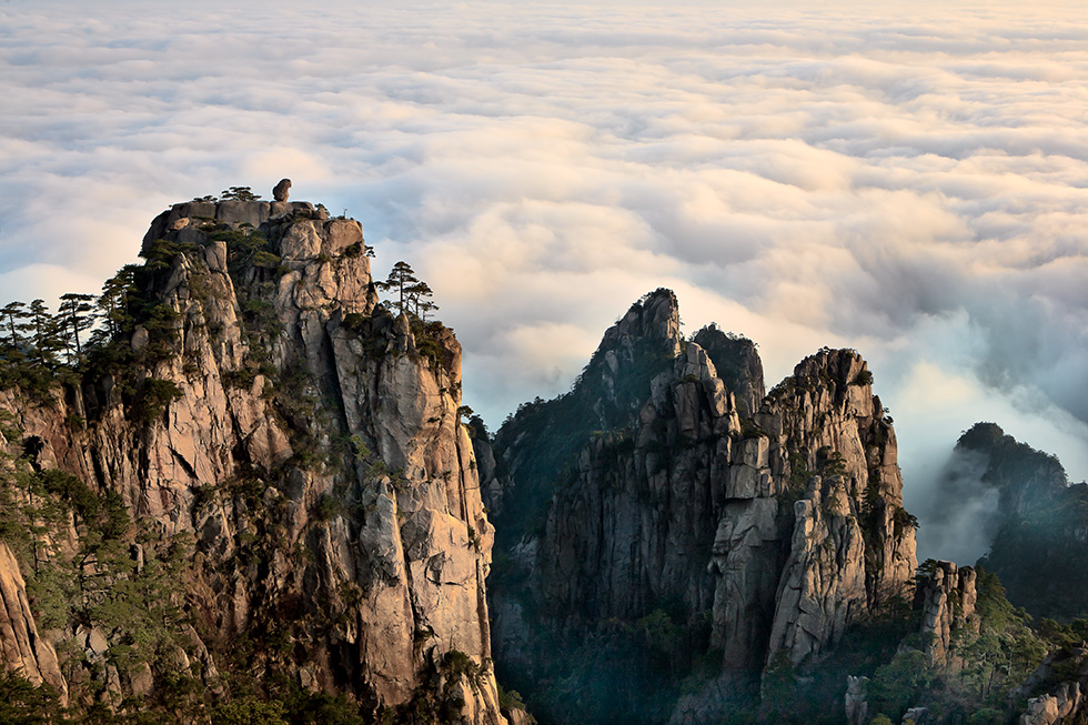 黄山四绝之怪石Second great is the Mount Huangshan rocks.jpg