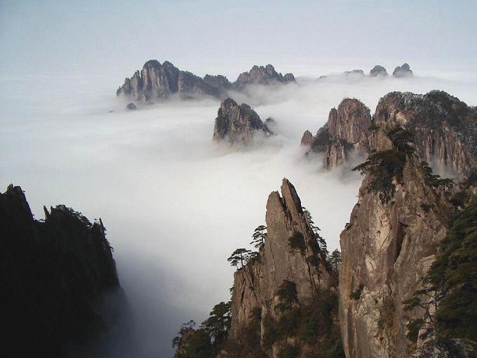 黄山三十六小峰之西海群峰 黄山飞来石处拍摄.jpg