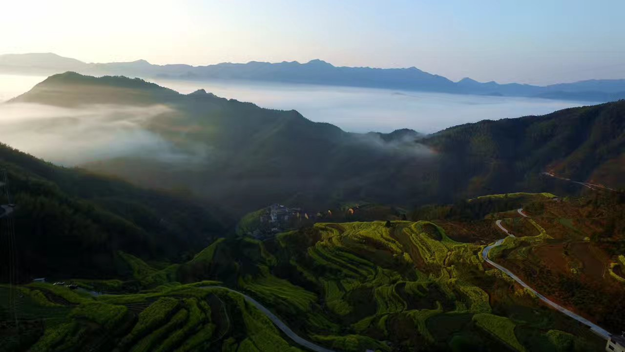 雨后歙县古丰乡村春景如画 摄影::潘成.jpg